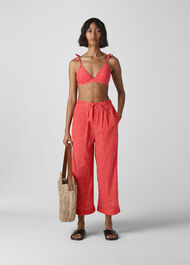 Heart Print Beach Trouser Red/Multi