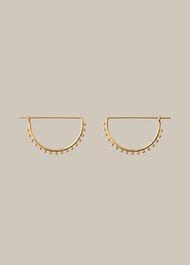 Sphere Detail Clip Earring Gold/Multi