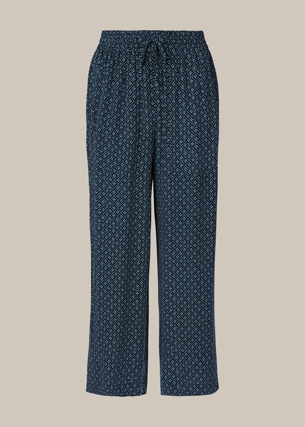 Lattice Print Trouser