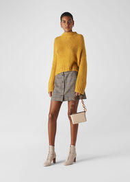 Oversized Textured Knit Yellow
