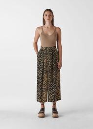 Animal Print Wrap Trouser Multicolour