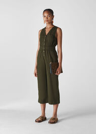 Ria Denim Jumpsuit Khaki