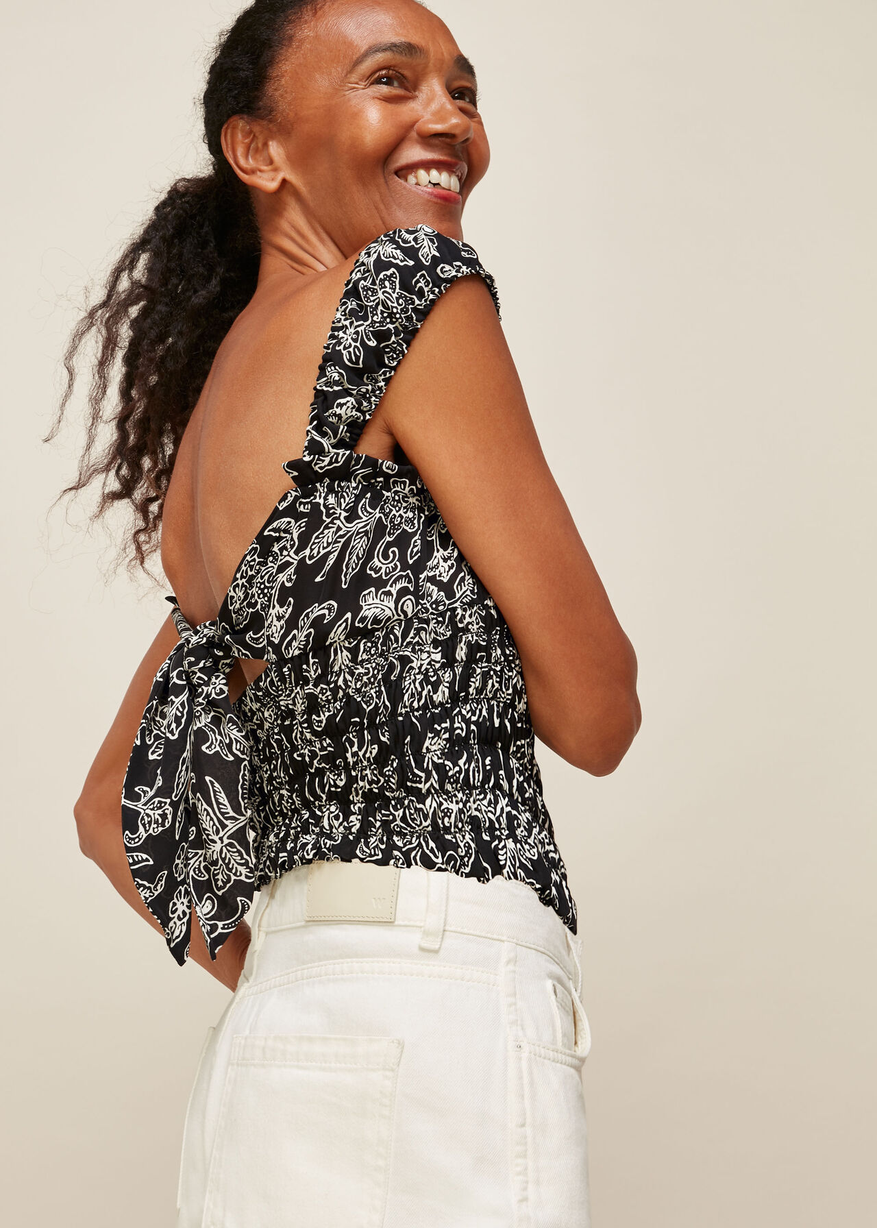 Jasmine Print Silk Top