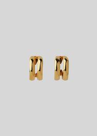 Mini Double Hoop Earring Gold/Multi