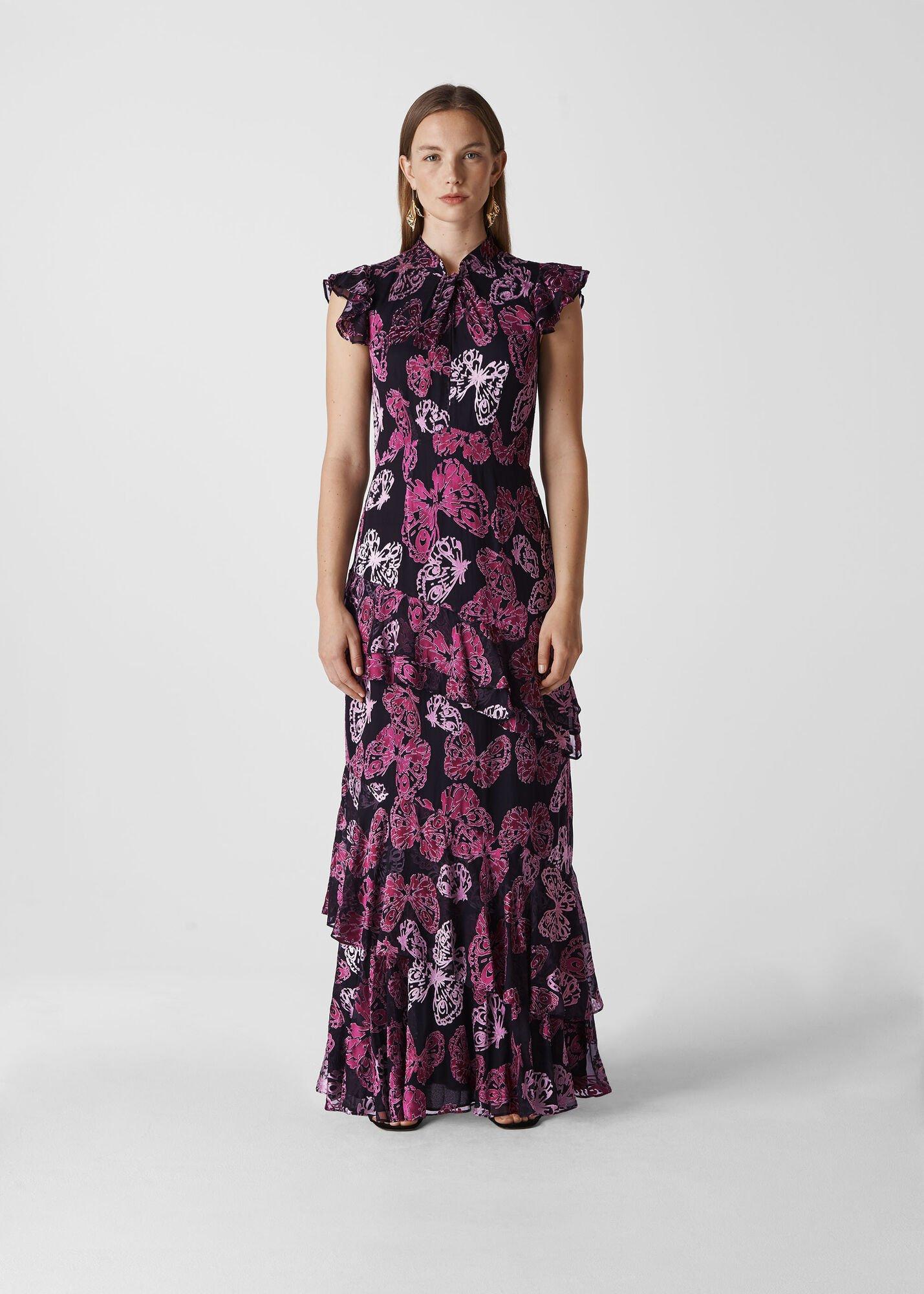 Butterfly Devore Maxi Dress