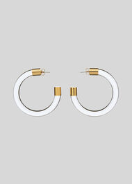 Clear Resin Hoops Clear