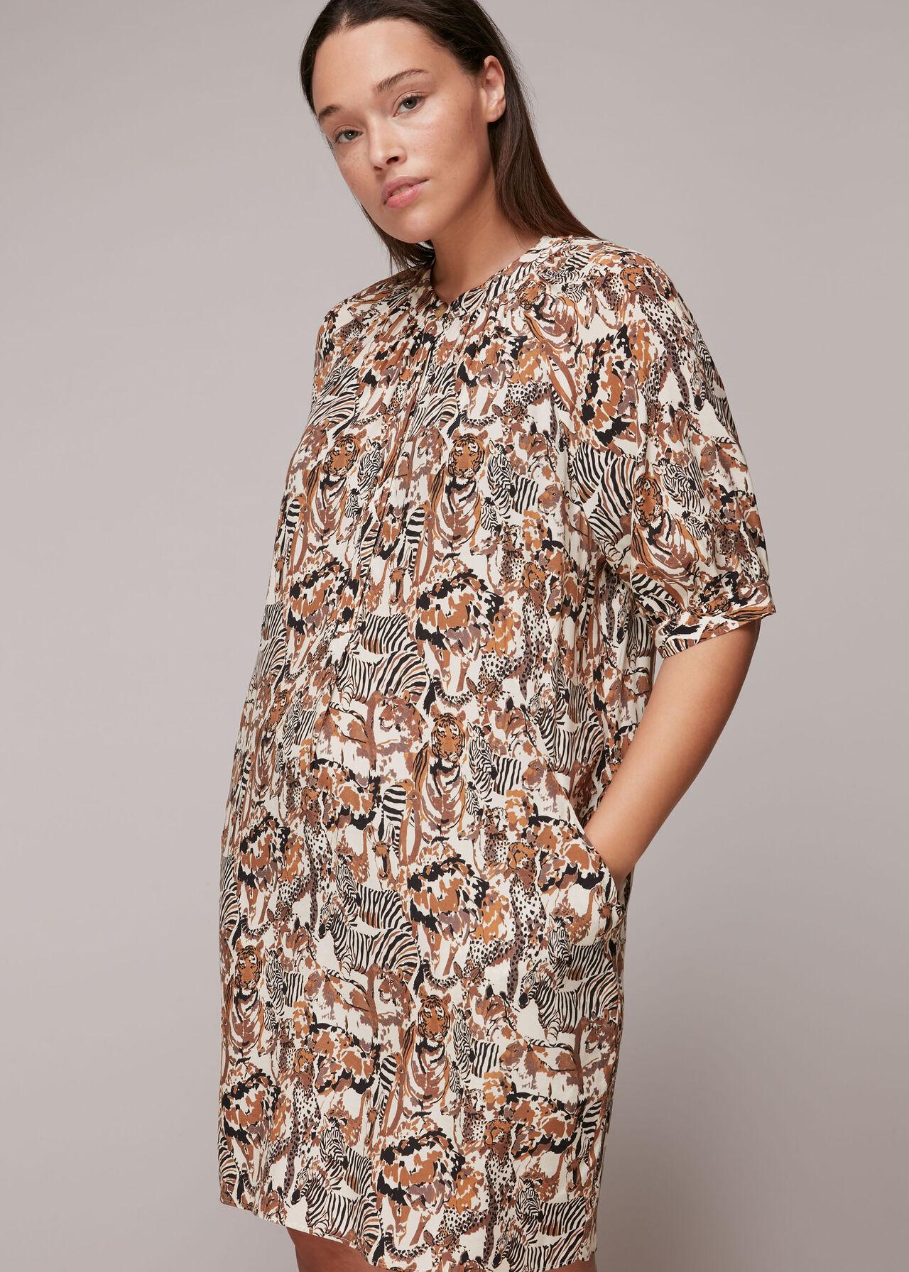Camo Safari Print Dress