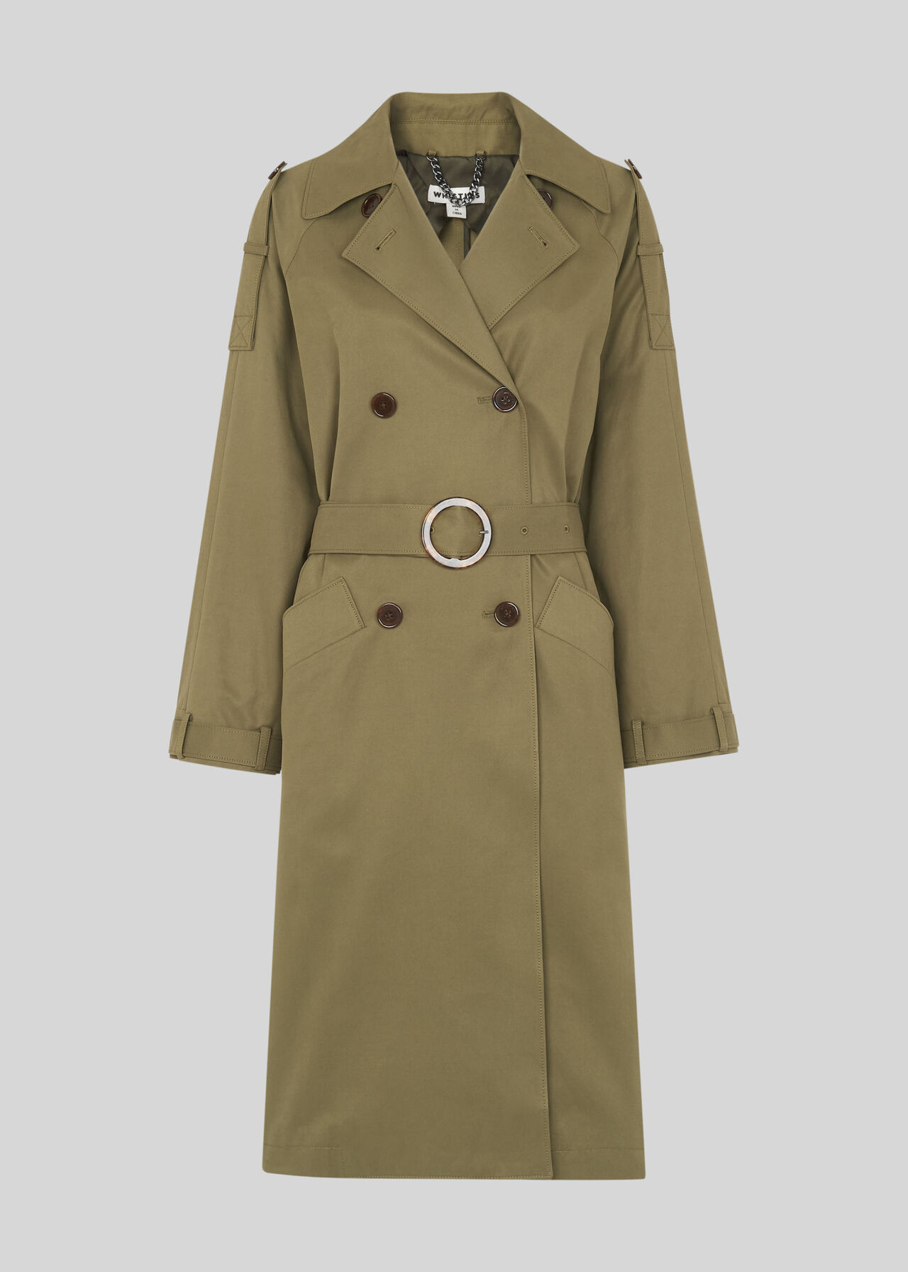 Izzey Trench Coat Khaki