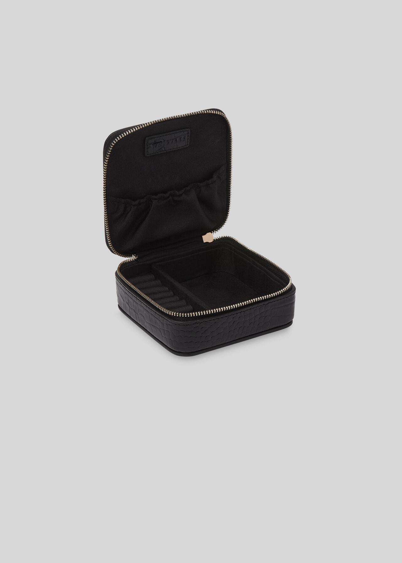 Travel Jewellery Box Black
