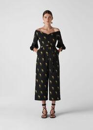 Woodpecker Printed Jumpsuit Black/Multi