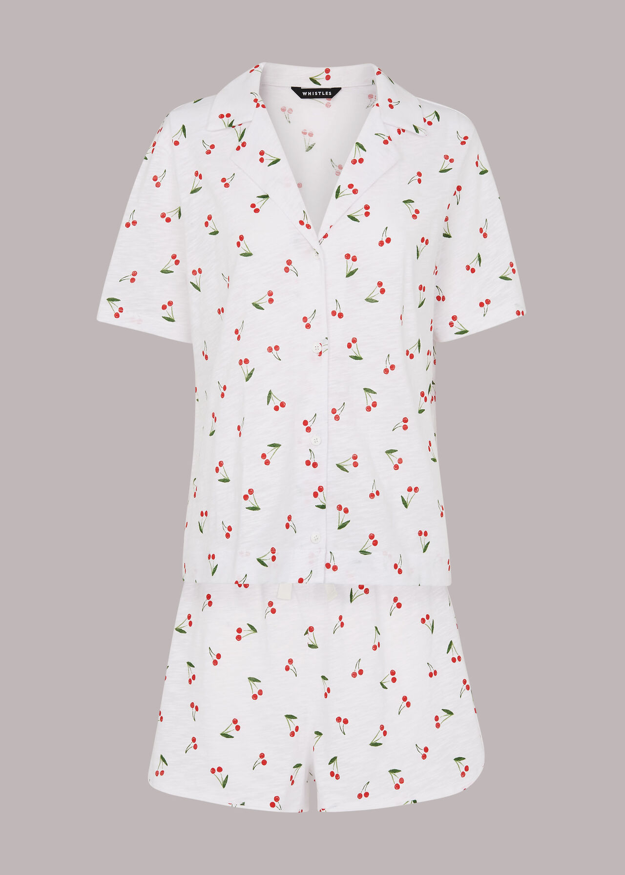 Cherry Print Short Pyjamas