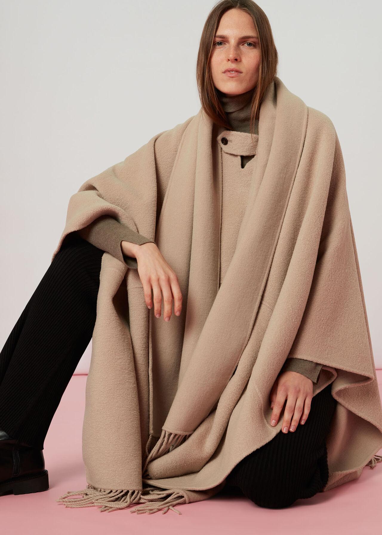 Wrap Fringe Coat