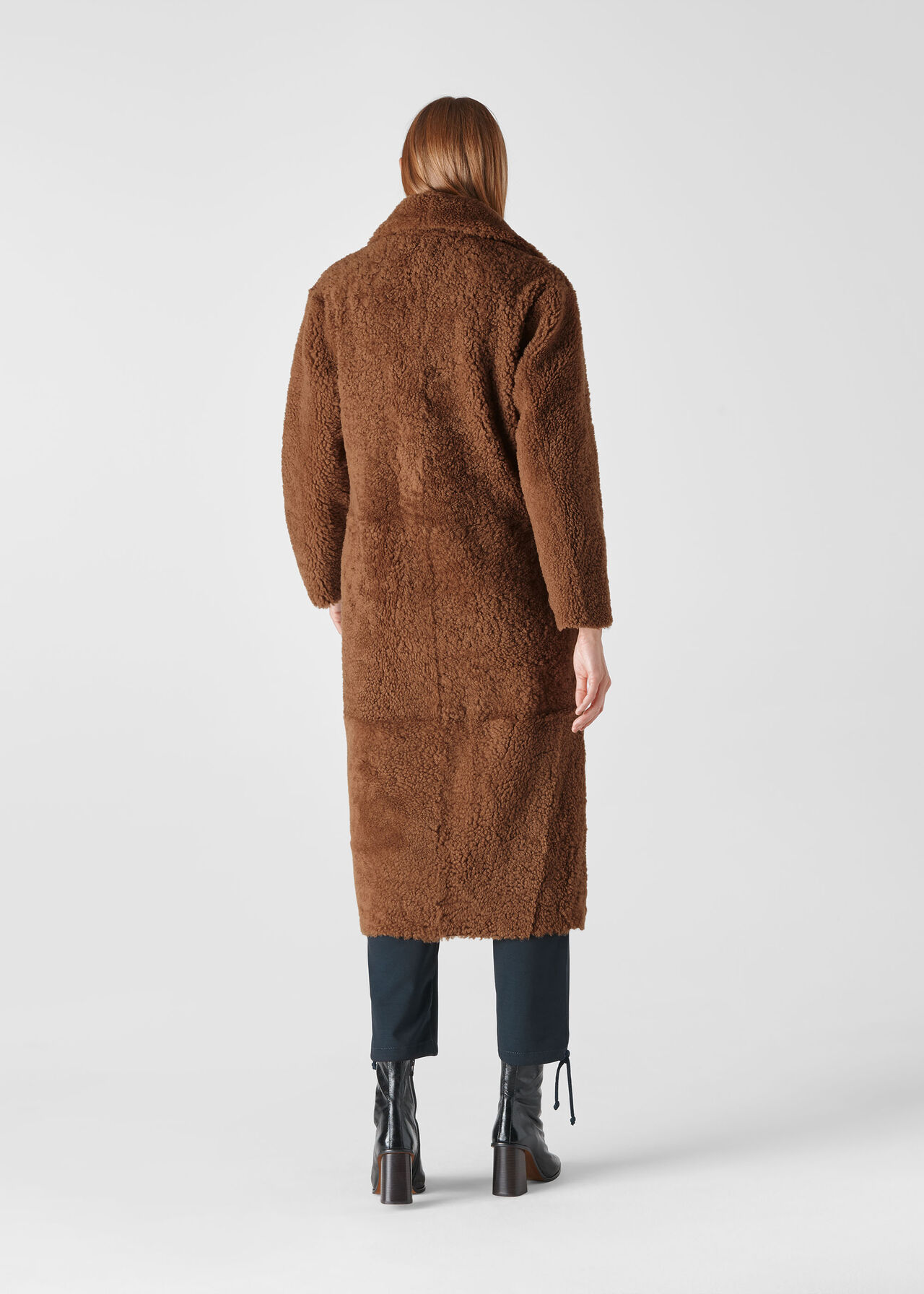 Erika Shearling Teddy Coat Tan
