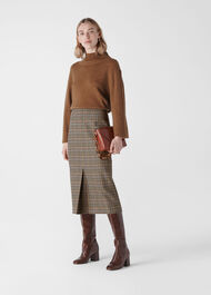 Houndstooth Pencil Skirt Multicolour