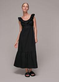 Jemma Frill Poplin Midi Dress