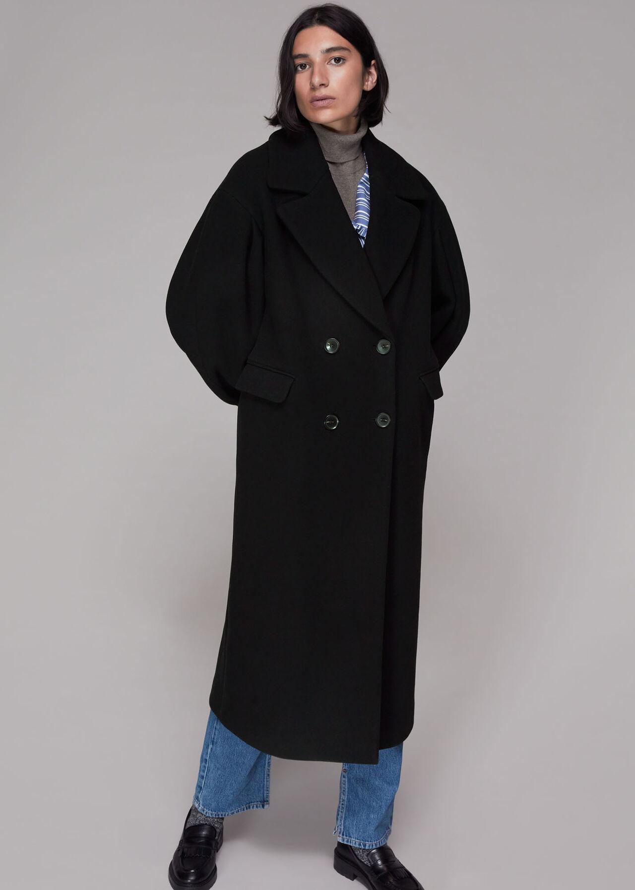 Indira Puff Sleeve Wool Coat
