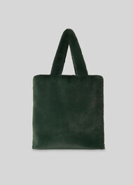 Hattie Faux Fur Tote Green