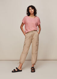 Relaxed Linen Tshirt Pale Pink