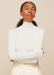 Essential Polo Neck Ivory