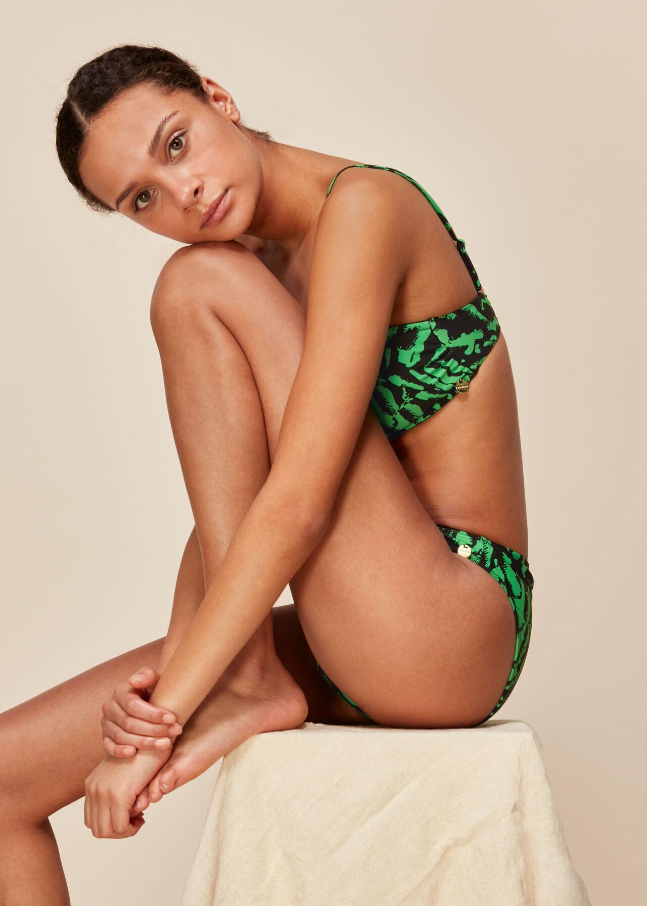 Tiger Animal Print Bikini Top