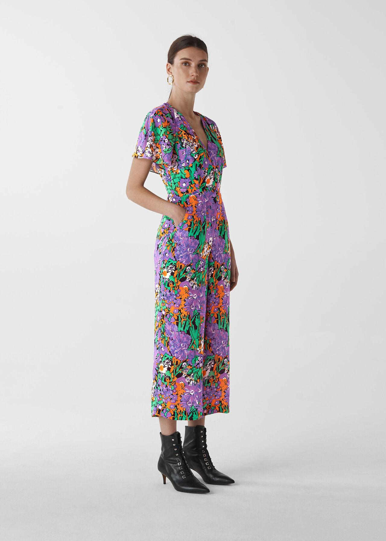 Simone Floral Print Jumpsuit Multicolour