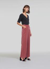 Corinna Velvet Trouser Pink