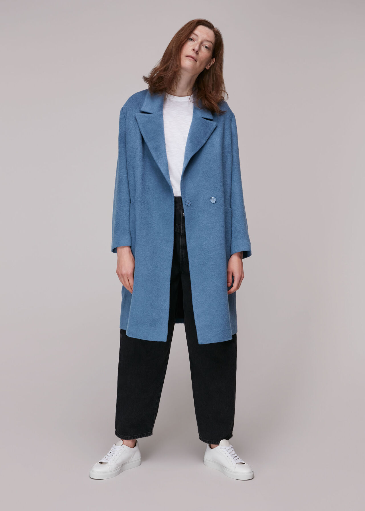 Lana Drawn Cocoon Coat