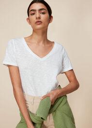 Sophie V Neck Cotton Tshirt