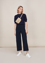 Cadie Side Button Trouser Navy