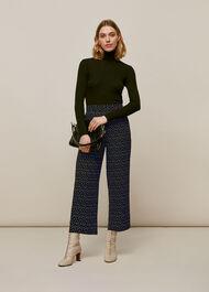 Micro Triangle Crepe Trouser Black/Multi