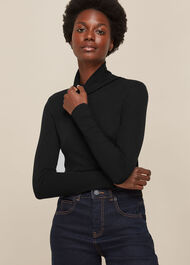 Essential Polo Neck Black