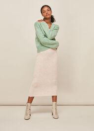 Ribbed Knitted Tube Skirt