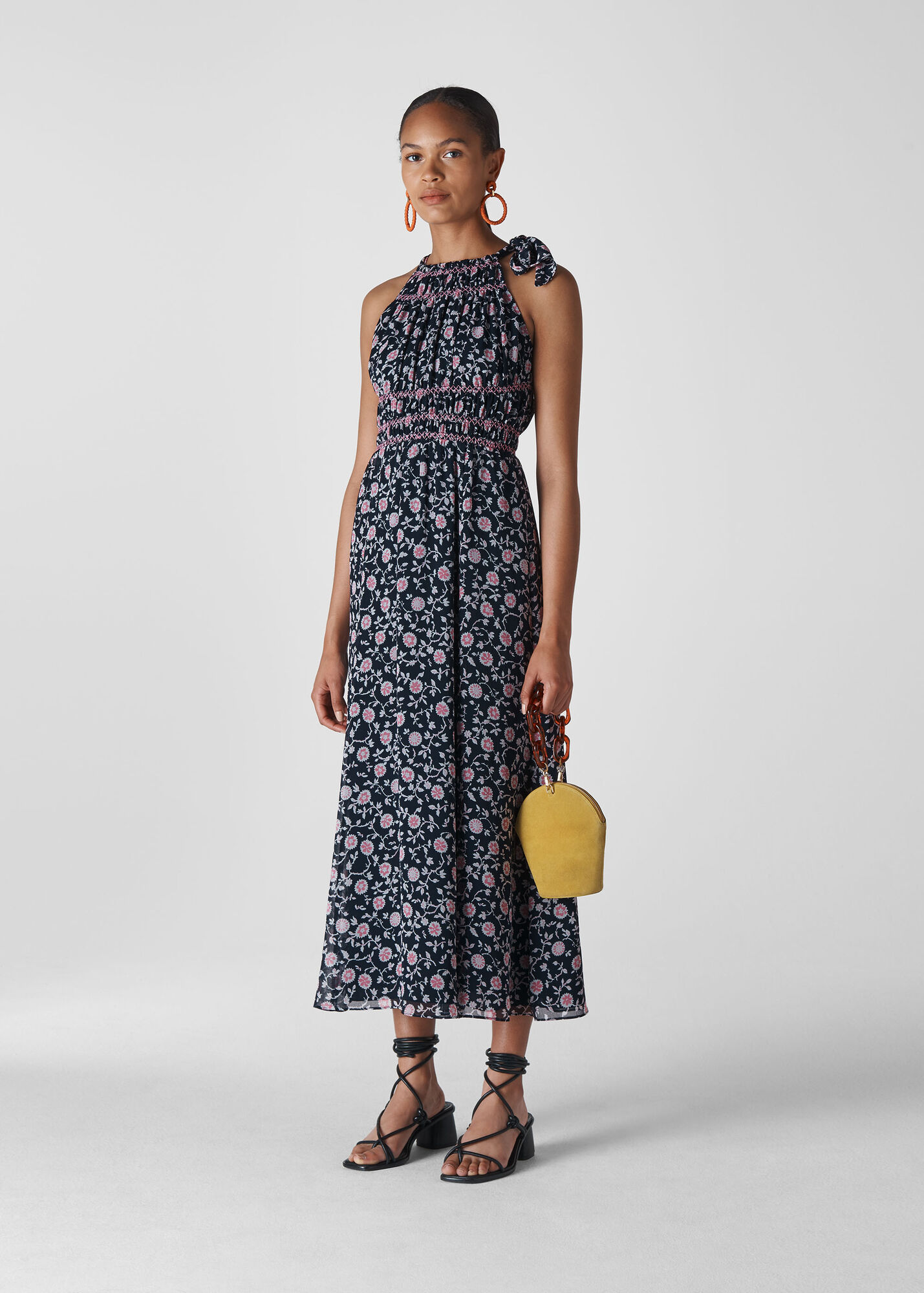 Marsha Print Midi Dress