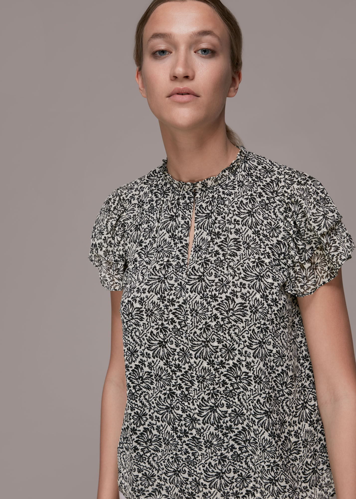 Whistles Women Indo Floral Print Top