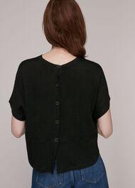Button Back Linen Tee