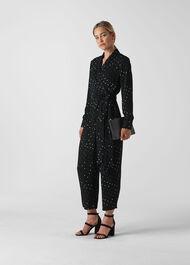 Star Print Jumpsuit Black/Multi