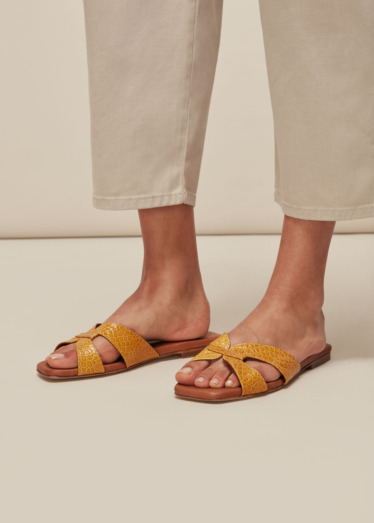 Tabitha Flat Slider Yellow