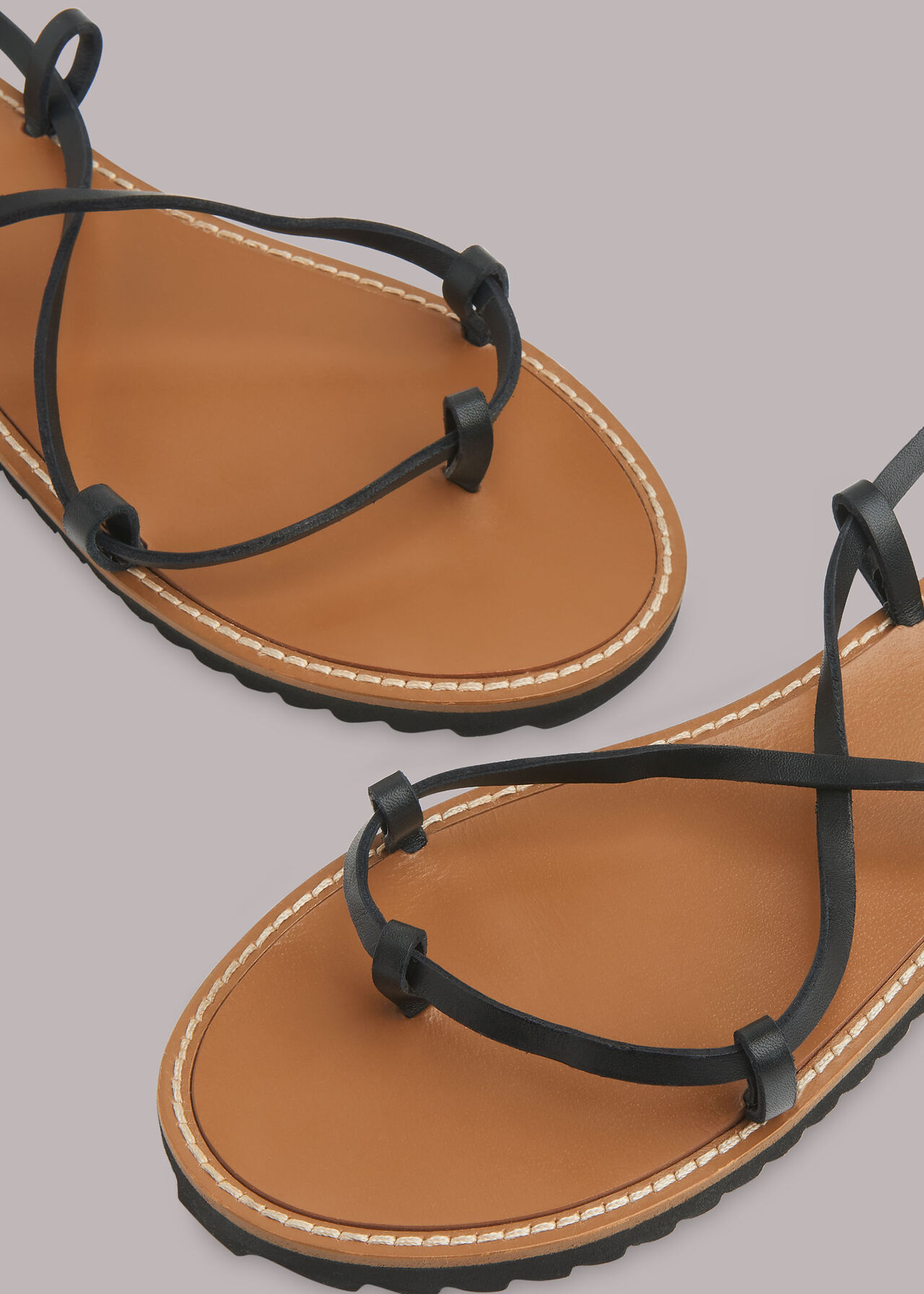 Willow Strappy Tie Sandal