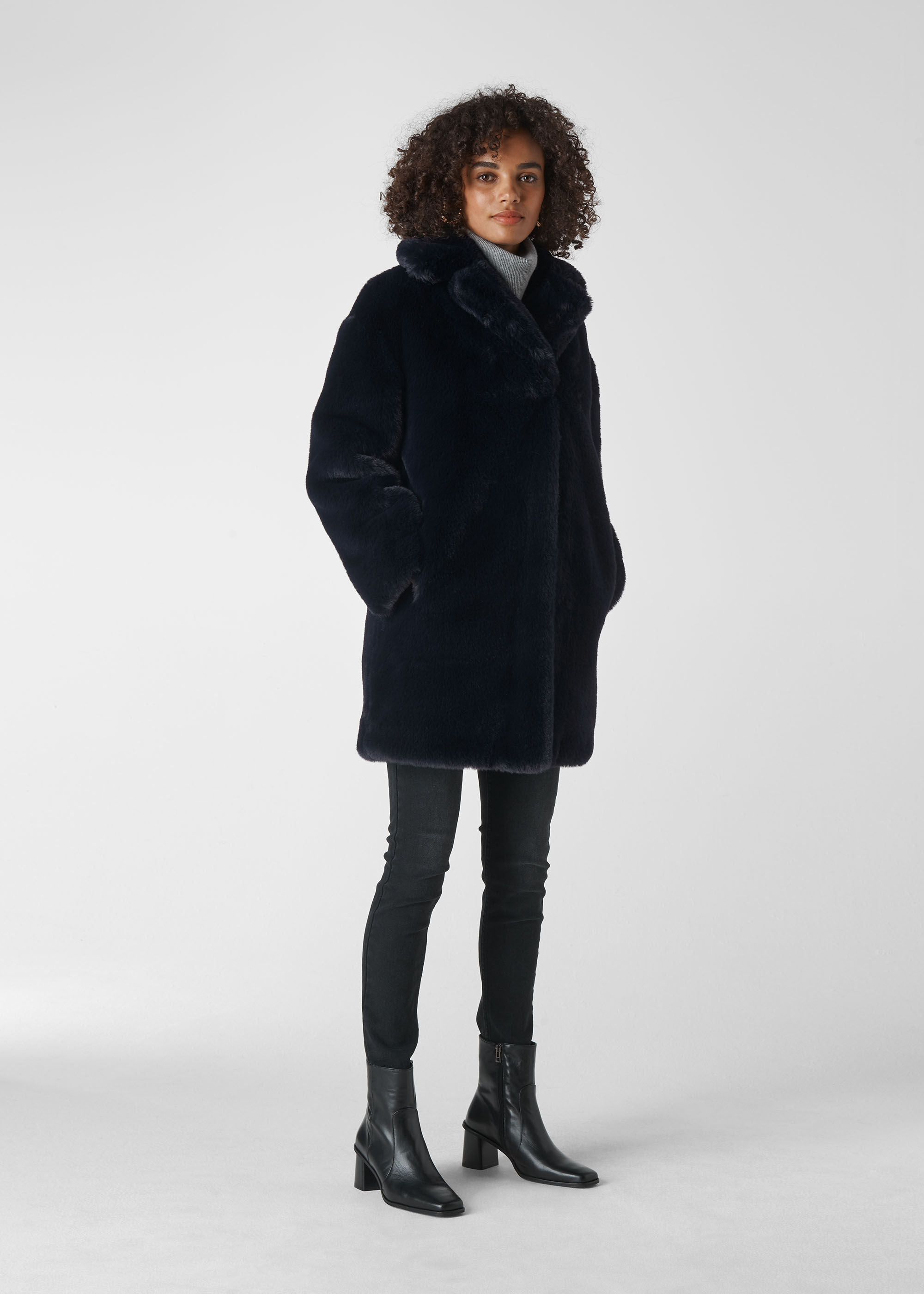 Whistles Women Frankie Faux Fur Coat