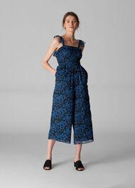 Bali Print Jumpsuit Blue/Multi