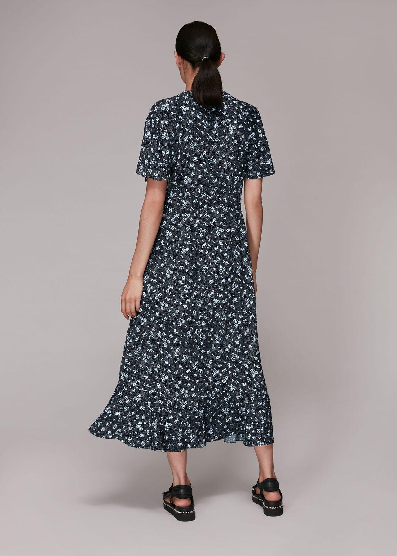 Daisy Spot Print Midi Dress