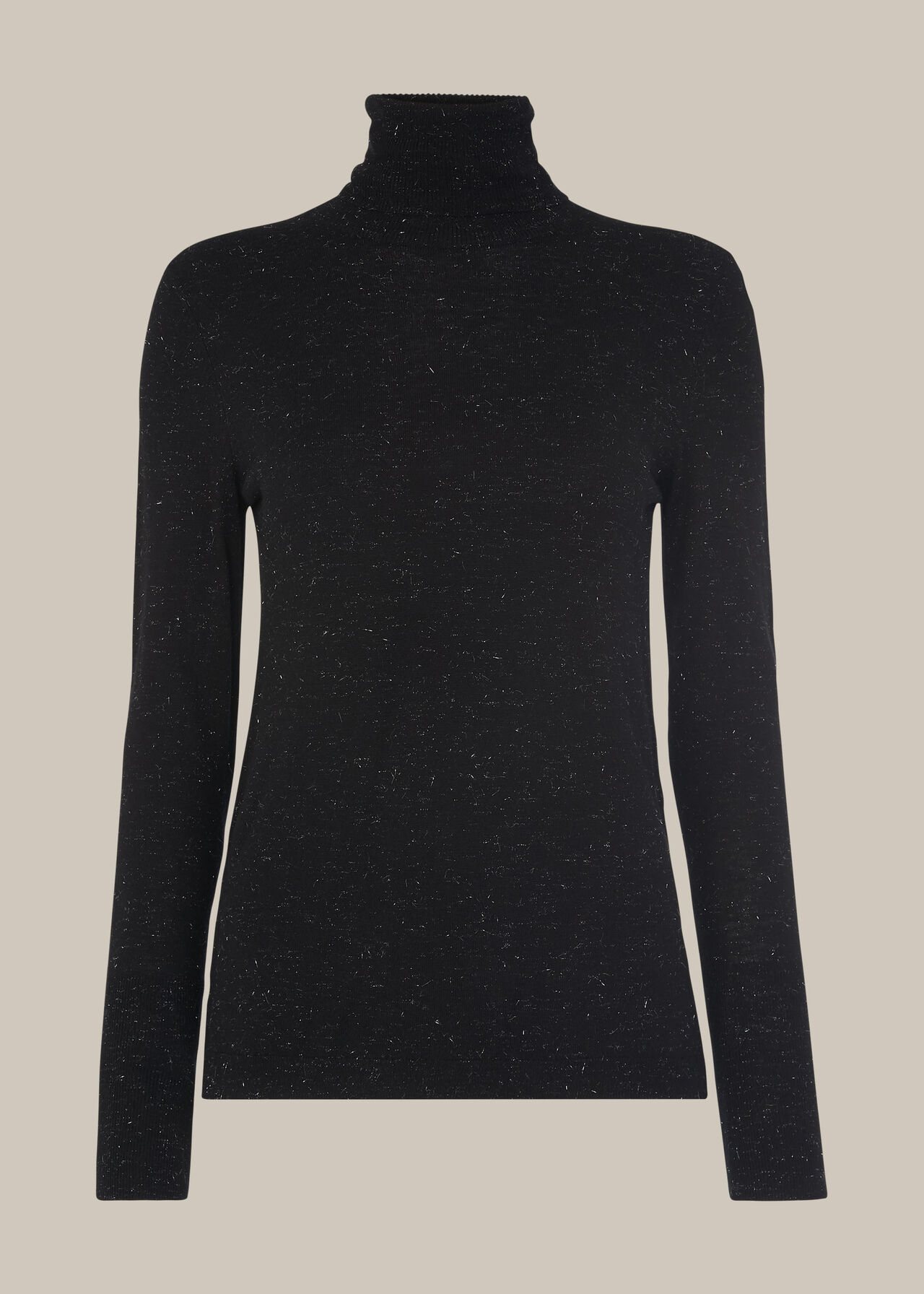 Annie Sparkle Polo Knit Black