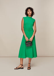 Penny Belted Dress Green