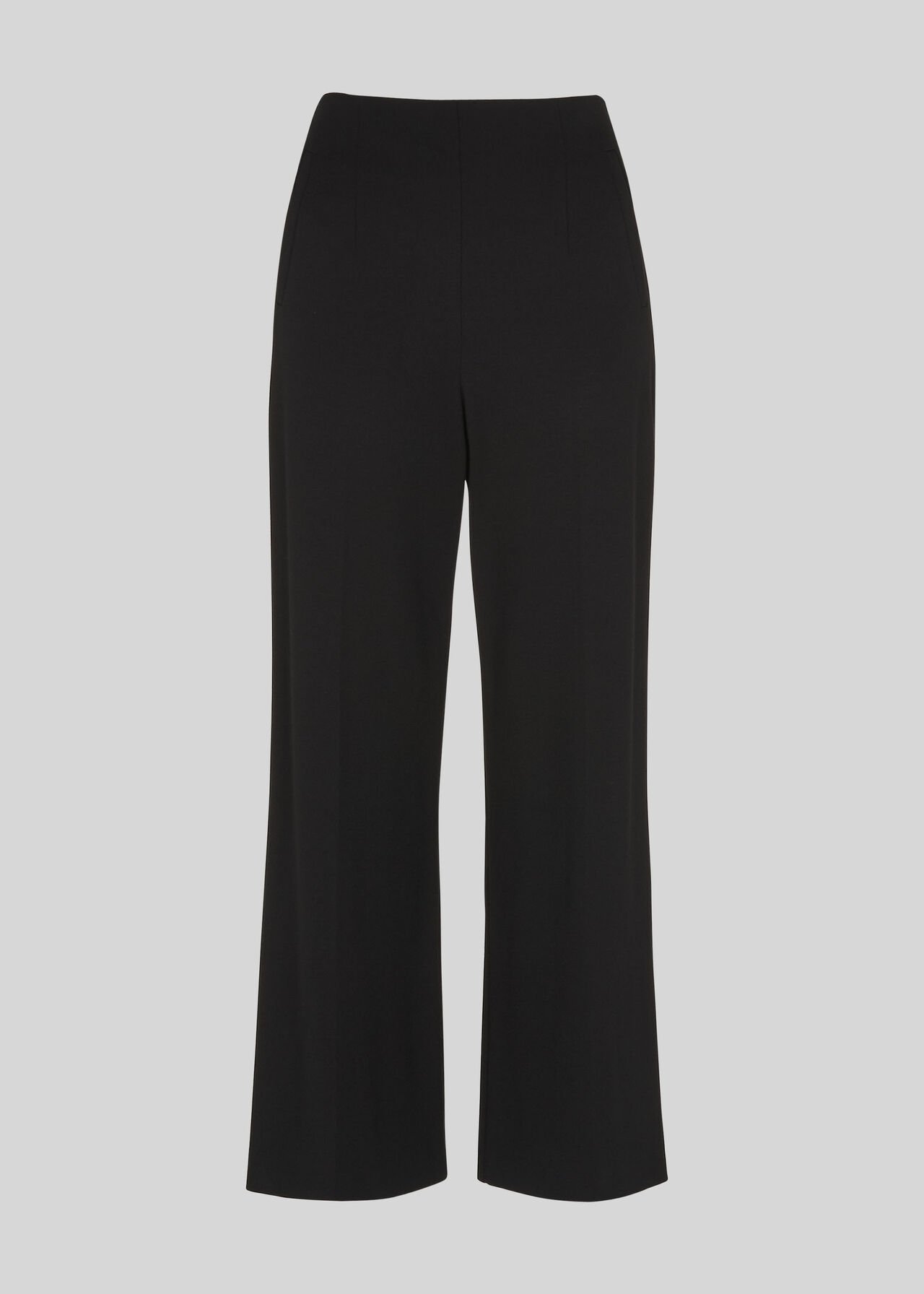 Flat Front Ponte Trouser Black