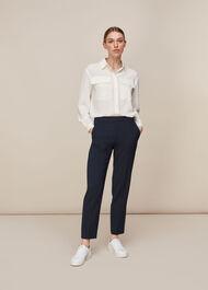 Anna Elasticated Waist Trouser Navy
