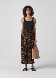 Aster Floral Print Trouser Black/Multi