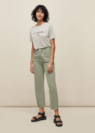 Je TAdore Paris Logo Tshirt Grey/Multi
