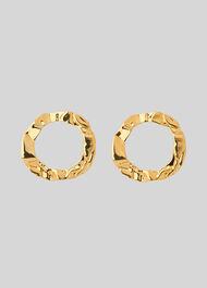 Crinkle Irregular Earring Gold/Multi