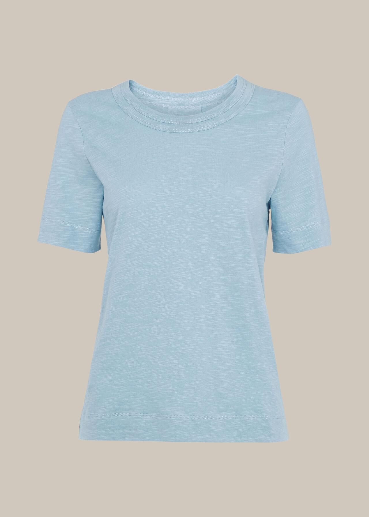 Rosa Double Trim T-Shirt Pale Blue