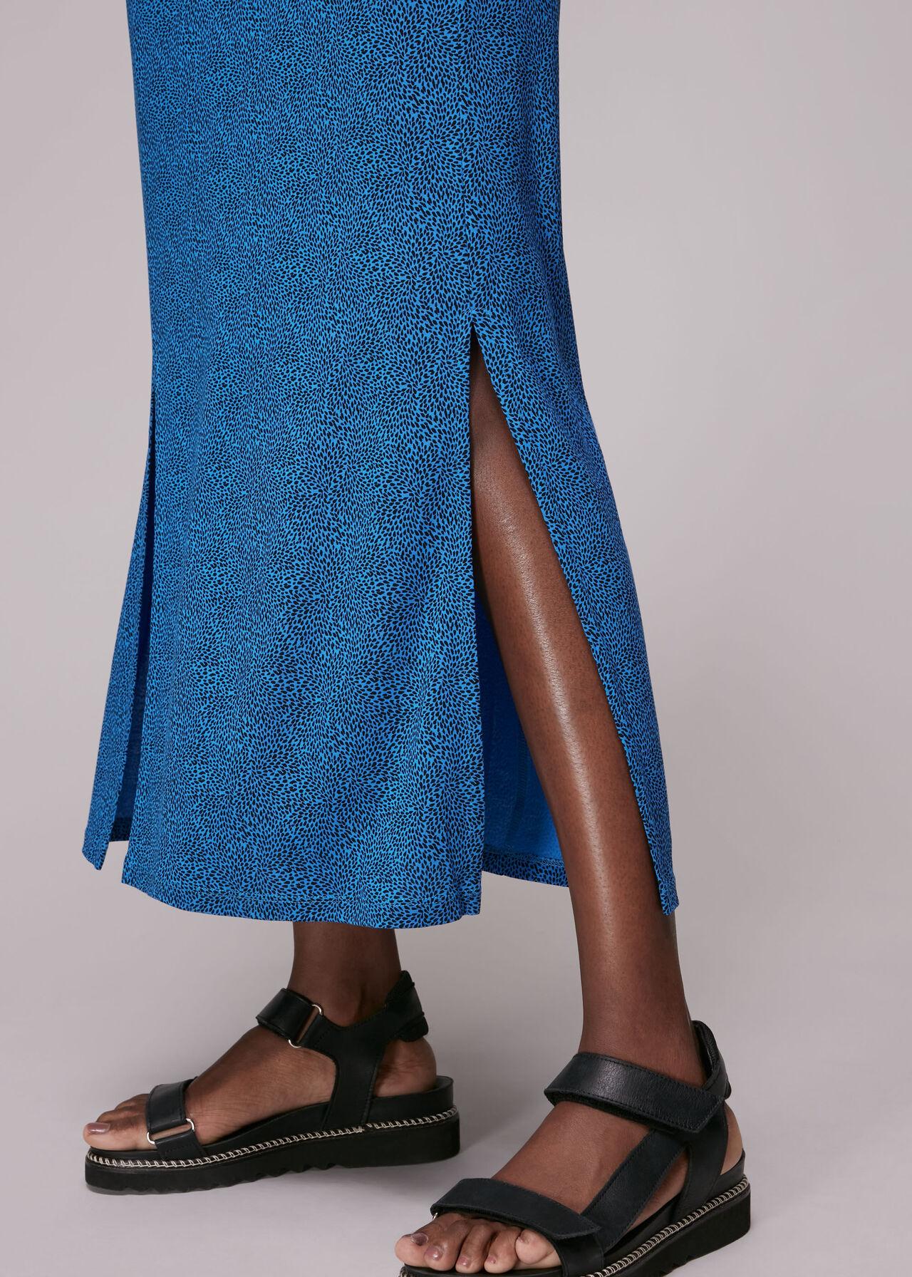 Animal Fleck Jersey Midi Dress